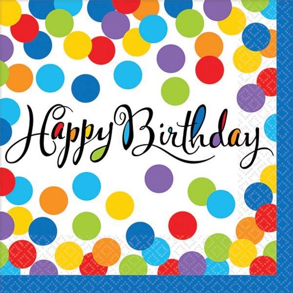 Tovagliolini Happy Birthday Confetti Bash