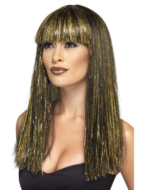Parrucca Nera e Oro da Cleopatra